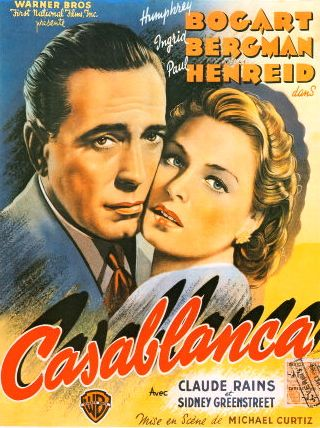 casablanca movie poster with bogart bergman
