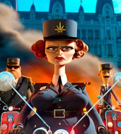 Captain DuBois (Frances McDormand) in Madagascar 3