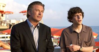 Alec Baldwin, Jesse Eisenberg in To Rome With Love