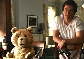 Ted the bear and Mark Wahlberg
