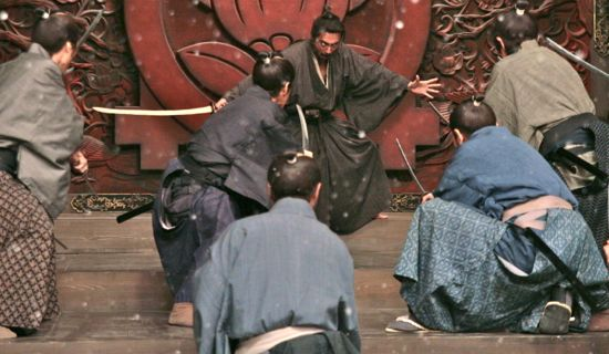 Fight sequence in Miike's samurai drama Hara-Kiri