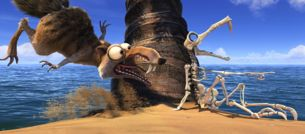 Prehistoric squirrel Scrat in Fox animated film Ice Age 4