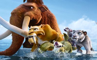 Main characters in Fox's cartoon Ice Age: Continental Drift