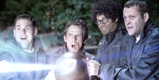 Jonah Hill, Ben Stiller Richard Ayoade, Vince Vaughn in The Watch comedy