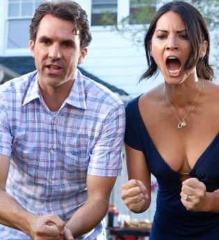 Paul Schneider and Olivia Munn in film Babymakers