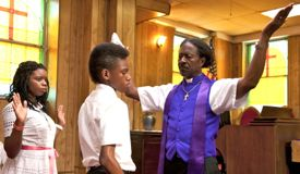 Red Hook Summer bishop preaches to youngsters