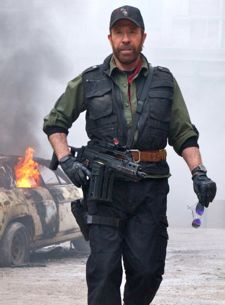 Chuck Norris strides into Expendables 2 warzone