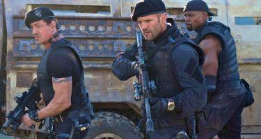 The Expendables 2 sees Sylvester Stallone, Jason Stratham and Terry Crews in action