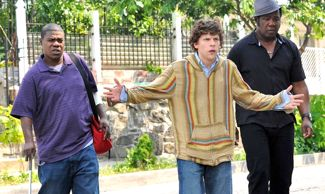 Jesse Eisenberg registers shock in Why Stop Now