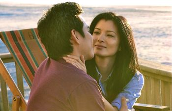 Almost Perfect's Kelly Hu is imperfectly in love with Ivan Shaw