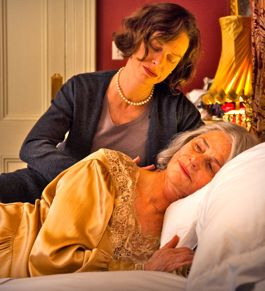 Judy Davis comforts mom Charlotte Rampling in Eye of the Storm