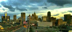 Detropia shows Detroit skyline