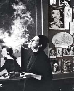 Diane Vreeland in her Manhattan home