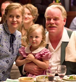 The Master's Amy Adams and Philip Seymour Hoffman pose for a photo