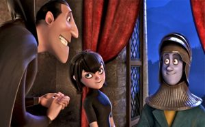 Hotel Transylvania features Drac, daughter Mavis and boyfriend Jonathan