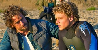 Chasing Mavericks' Gerard Butler offers encouragement to Jonny Weston