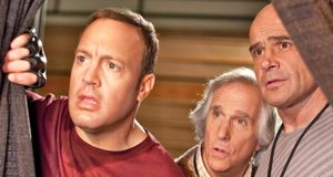 Here Comes the Boom's Kevin James, Henry Winkler, Bas Rutten look apprehensive