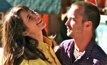In Smashed Mary Elizabeth Winstead shares laugh with Aaron Paul