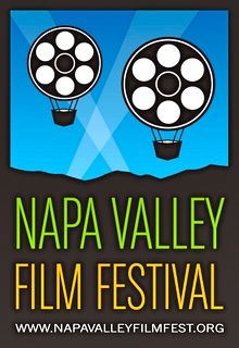 Napa Valley Film Festival logo has hot-air ballons look like film reels