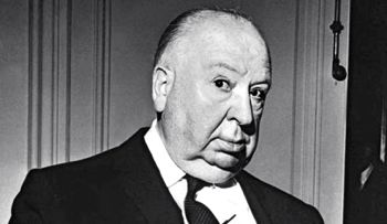 Alfred Hitchcock in studio publicity photo
