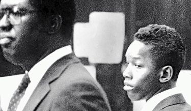 Central Park Five defendant Kharey Wise as he looked in court when arraigned