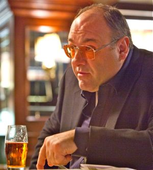 In Killing Them Softly James Gandolfini's hitman drinks heavily