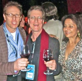 Napa Festival founder Marc Lhormer shares a toast with Kirk & Mira Honeycutt