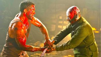 In Universal Soldier Scott Adkins and Jean-Claude Van Damme engage in mortal combat