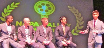 SOMM director Jason Wise answers questions after film premiere at NVFF
