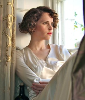 In Cheerful Weather for the Wedding Felicity Jones gazes out a wndow