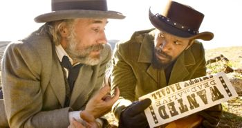 Django Unchained's Christoph Waltz and Jamie Foxx target their prey