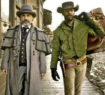In Django Unchained Christoph Waltz and Jamie Foxx stroll into town