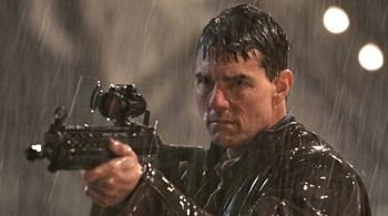 In Jack Reacher Tom Cruise the enemy in his gun sight