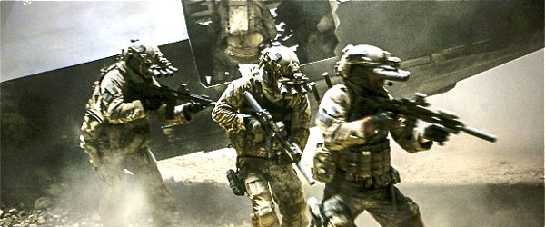 In Zero Dark Thirty NavySEALS close in on Osama bin Laden