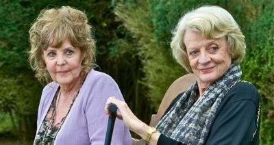 In Quartet Pauline Collins and Maggie Smith enjoy a park bench