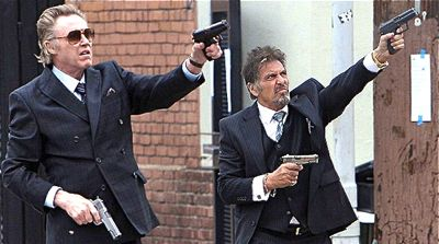 Stand Up Guys' Christopher Walken and Al Pacino fire guns