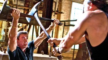 Bullet to Head's Sly Stallone battles Momoa with axe