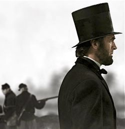 Abe Lincoln on Civil War battlefield