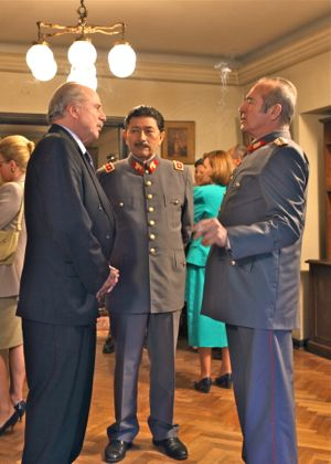 In No Chilean military officers chat at party