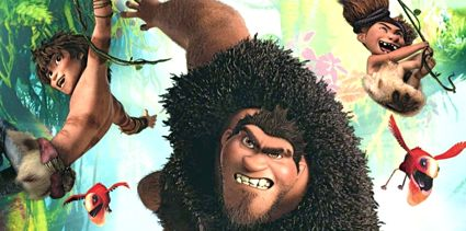 Croods family swings through jungle