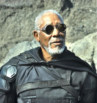 Oblivion's Morgan Freeman surveys ruined Earth