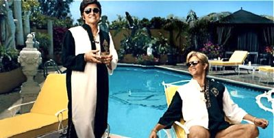 Michael Douglas and Matt Damon relax poolside in Behind the Candelabra
