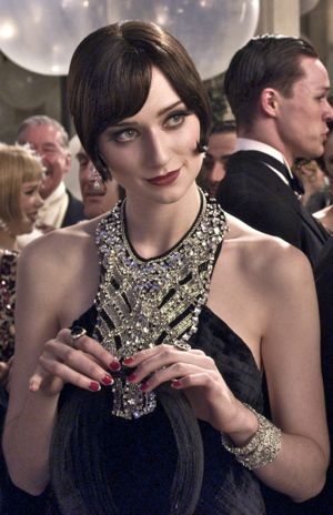 Great Gatsby's Elizabeth Debicki surveys party scene