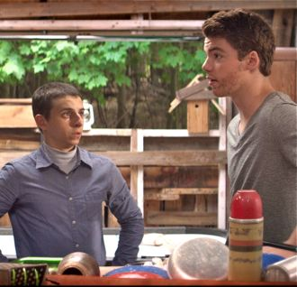 Kings of Summer's Moises Arias and Gabriel Basso consult on house building
