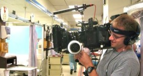 Cameraman shoots in LA County Hospital