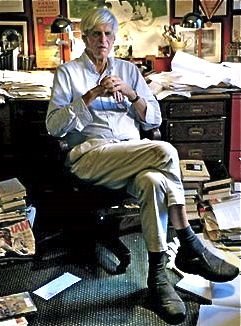 George Plimpton in his home office