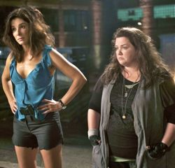 Heat's Sandra Bullock and Melissa McCarthy watch bad guys in nightclub
