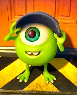 Monsters University's Mike looks with wonder