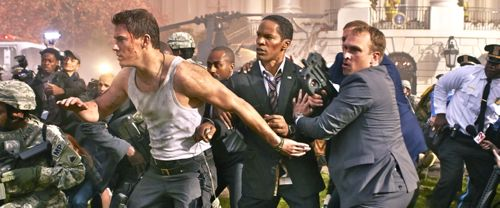 White House Down's Channing Tatum leads Jaimie Foxx to safety