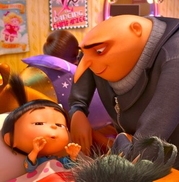 Despicable Me 2's Gru tucks in his daughter